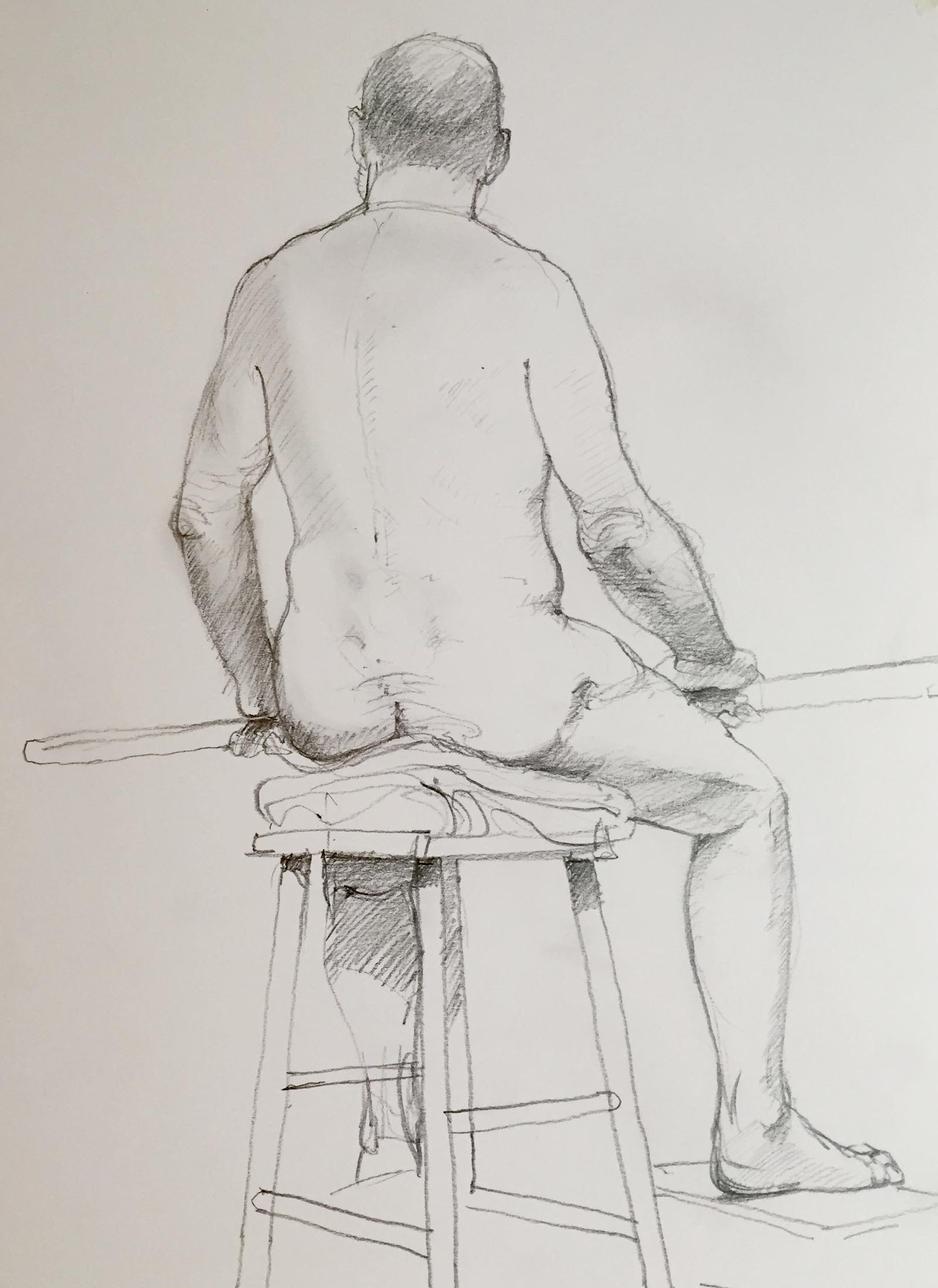Life Drawing Man 1